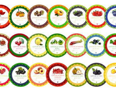 Étiquettes pour pots de confitures