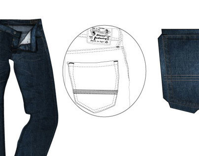 Pocket embroidery design