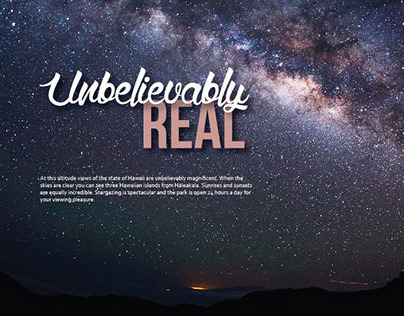 """""""Unbelievably Real"""" Hawaii Travel Campaign"""