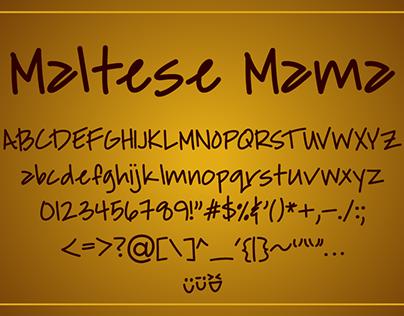Maltese Mama Font Peoject