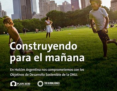 Publicidad Plan 2030, Holcim Argentina