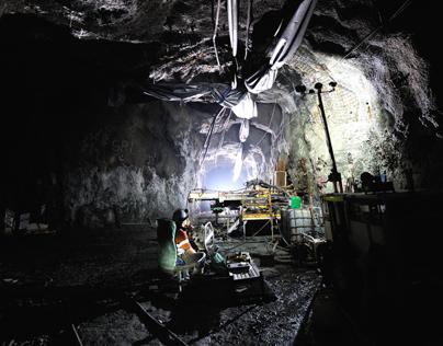 Mining images taken while crawling around underground.