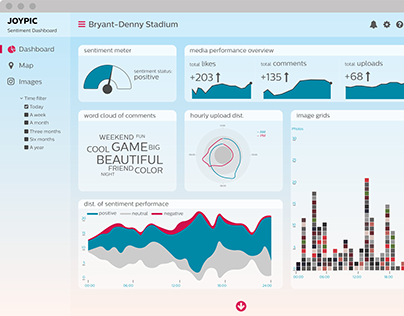 Designing dashboard with custom data visualizations