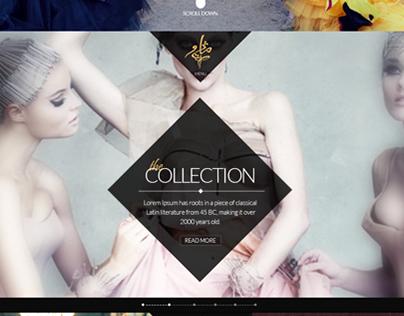 Mathieu Salem Fashion Couture - Web Design
