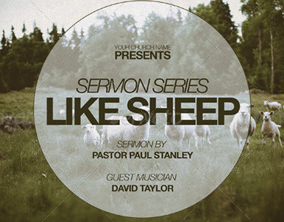Like Sheep Church Flyer Invite Template