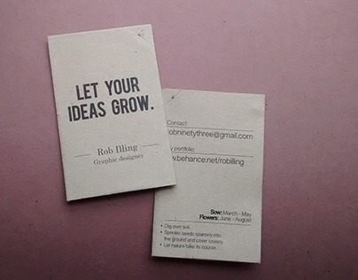 A business card with a twist.