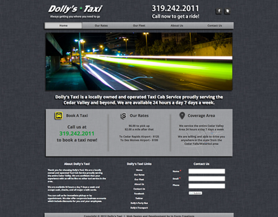 Website Design & Development   Dolly's Taxi