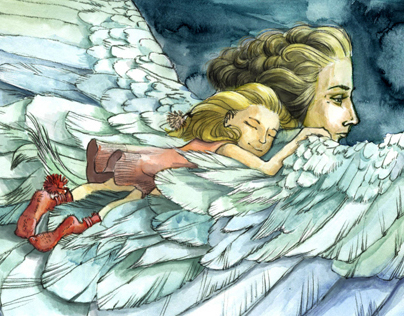 Safe in my angel wings