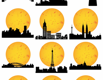 Building and Landmark Silhouette images