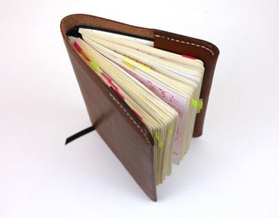 Sketchbook leather case. (Homage Moleskine)