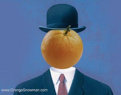 Mr. Orange Snowman