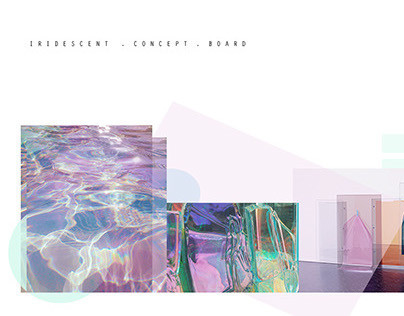 iridescent collection . concept . mood + colour . board