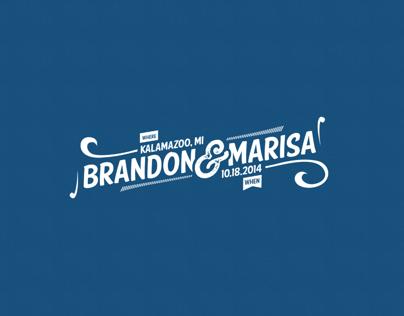 Logo - Brandon & Marisa - Wedding