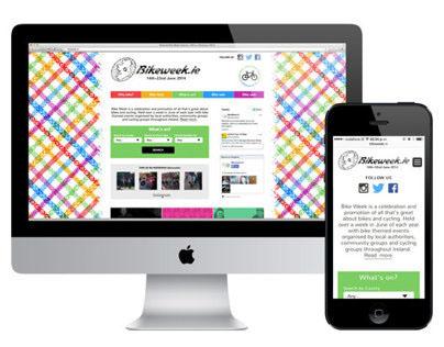 Bikeweek.ie visual identity refresh & website redesign