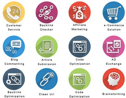 SEO | Flat Icons - SEO Icons - Internet Marketing Icons