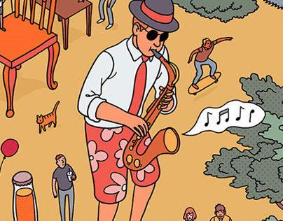 Summer Festivals Illustrations