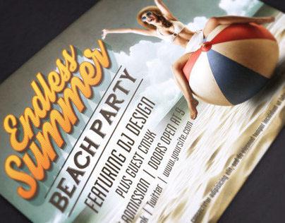 Endless Summer Beach Party Flyer Template