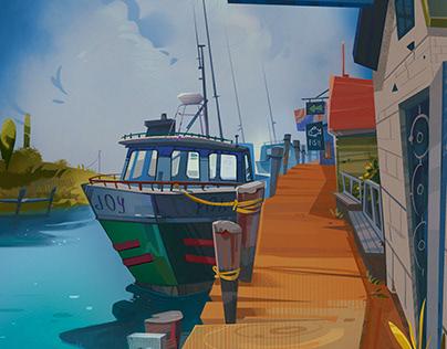 The fishing port