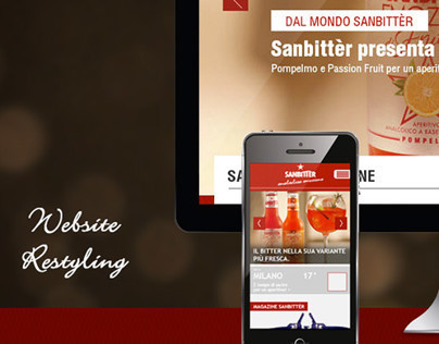Website restyling // Sanbittèr Nestlé