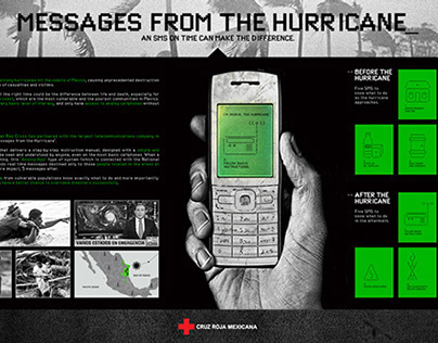 Messages from the Hurricane by Mexican Red Cross.