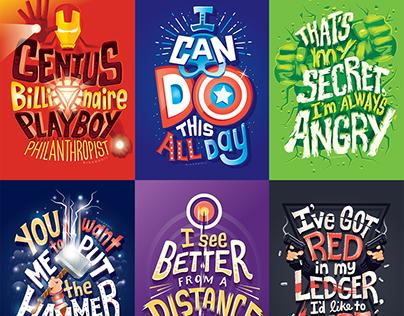 Superheroes: Lettering Series