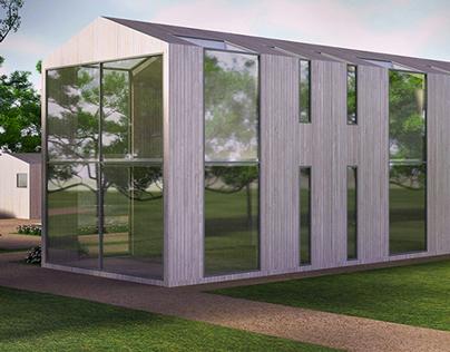 Barn conversion in UK - architectural design