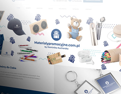 Materialypromocyjne.com.pl, promocja, Strona WWW