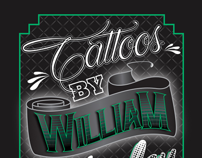 Business Card Design for Tattoos by William Duberley