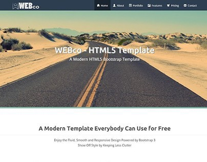 WEBco - Bootstrap Template