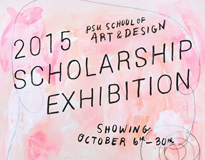 2016 Scholarship Exhibition: Hand-lettering