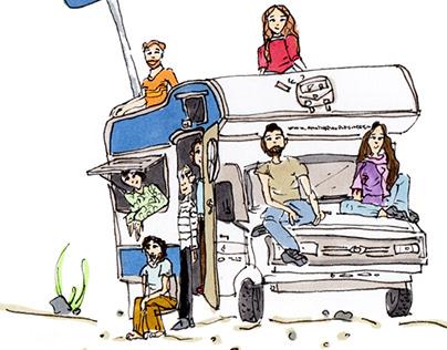 Illustration artwork for Caravan Project,2016.