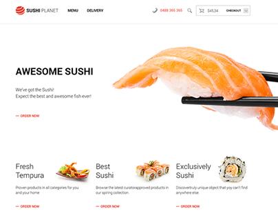 Sushi Planet Web Design / Australia