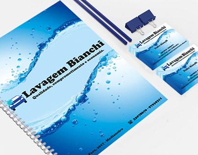 Projeto de peças gráficas para a Lavagem Bianchi