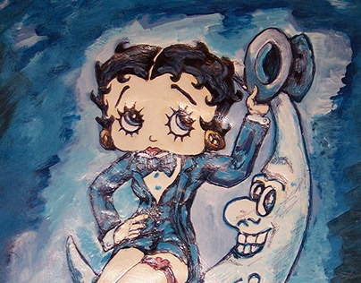"""""""Betty Boop Sitting on the Moon"""""""