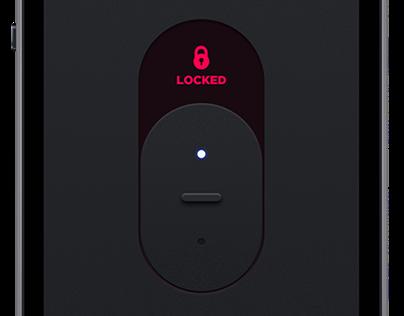 Lock App UI design