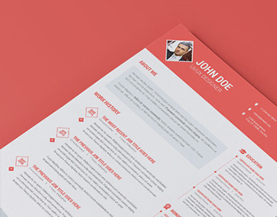 Diamond Resume/CV | 3 Piece Resume |  Clean | Flat