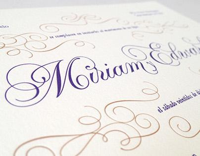Wedding Invitation - Miriam & Edward