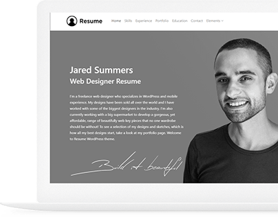 Resume WordPress Theme - Responsive CV Website Builder