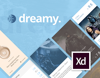 Dreamy UI Kit for Adobe XD
