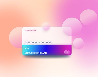 Glass morphism card