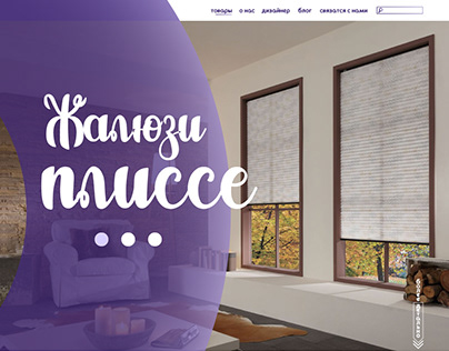 web-design, landing page, pleated blinds
