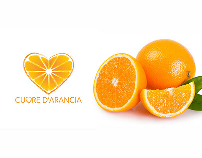 Logo and product for Cuore d'arancia