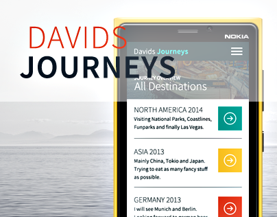 Davids Journeys - Travel Blog Design