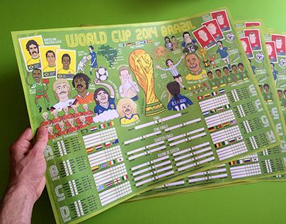 2014 World Cup Wallchart by Elliott Quince