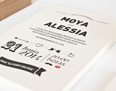 MOYA & ALESSIA - WEDDING INVITATION