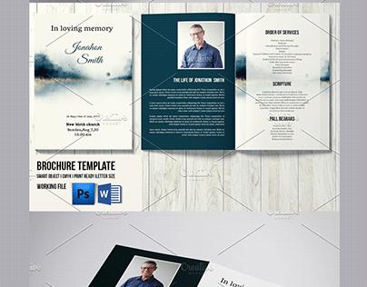 Funeral Program Template - V1067