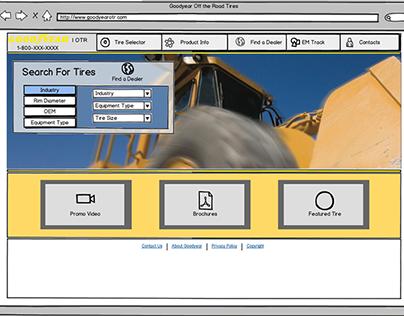 Goodyear OTR Website Redesign Wireframes