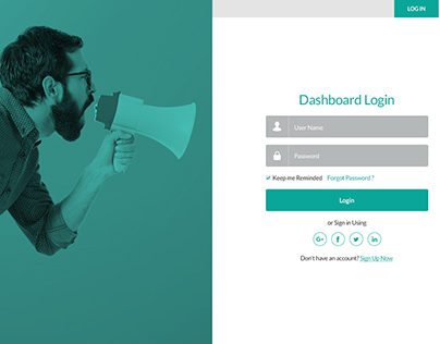 Dashboard Login & Signup Page