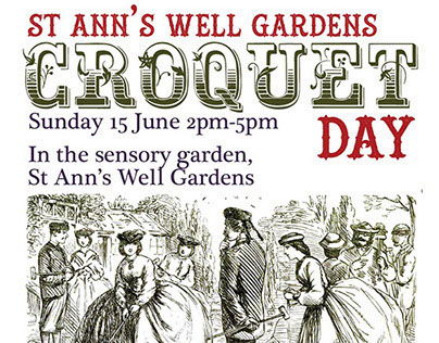 Poster for Friends of St Ann's Well Gardens, Brighton