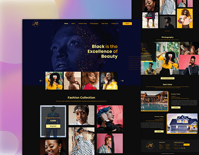 Fashion And Photography Website Design